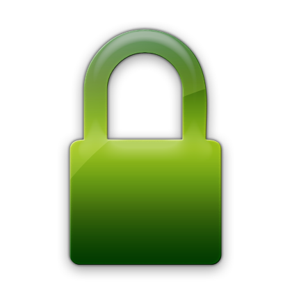A padlock representing secure website connection